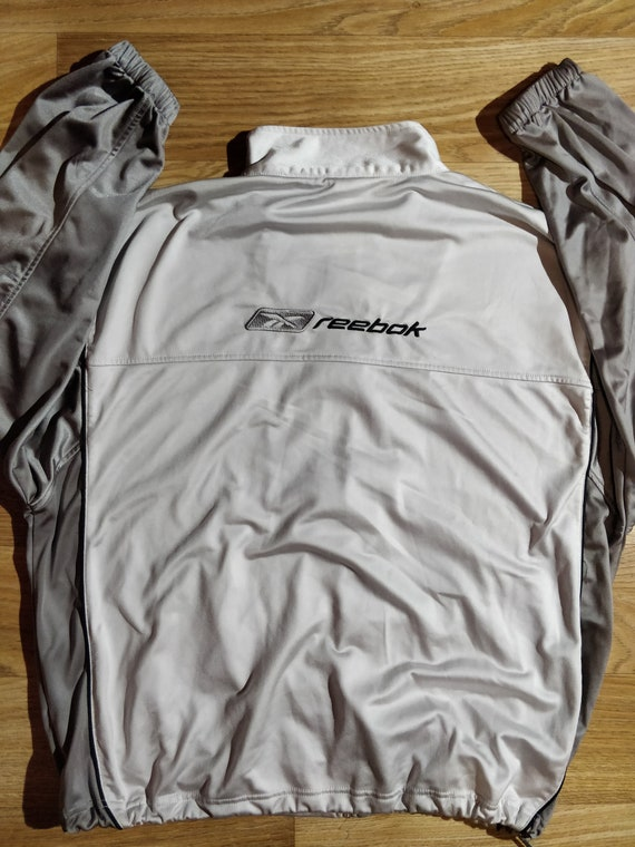 Reebok 90's Vintage Mens Tracksuit Top Jacket Gray - image 2