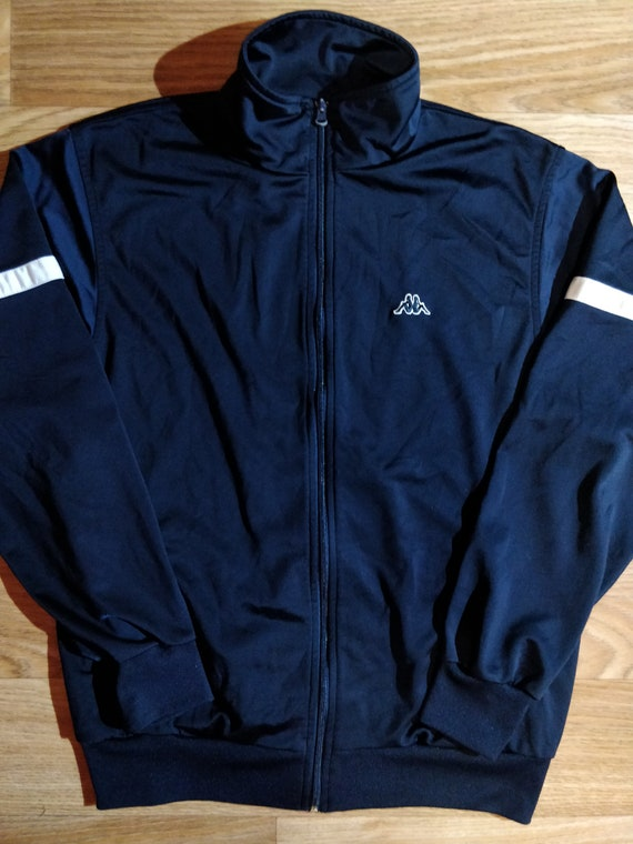 Adidas 90's Vintage Mens Tracksuit Top Jacket Red Navy Blue