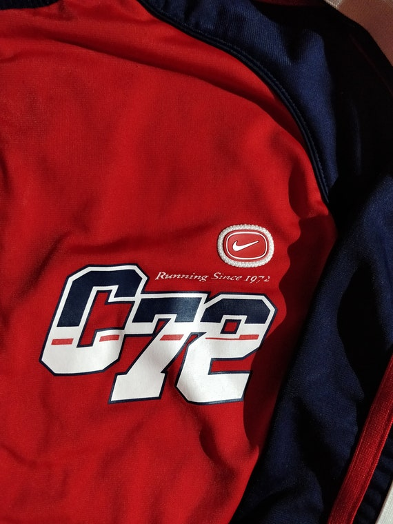 Nike COR72Z Cortez Womens Running Tracksuit Top Jacket Red Navy Blue