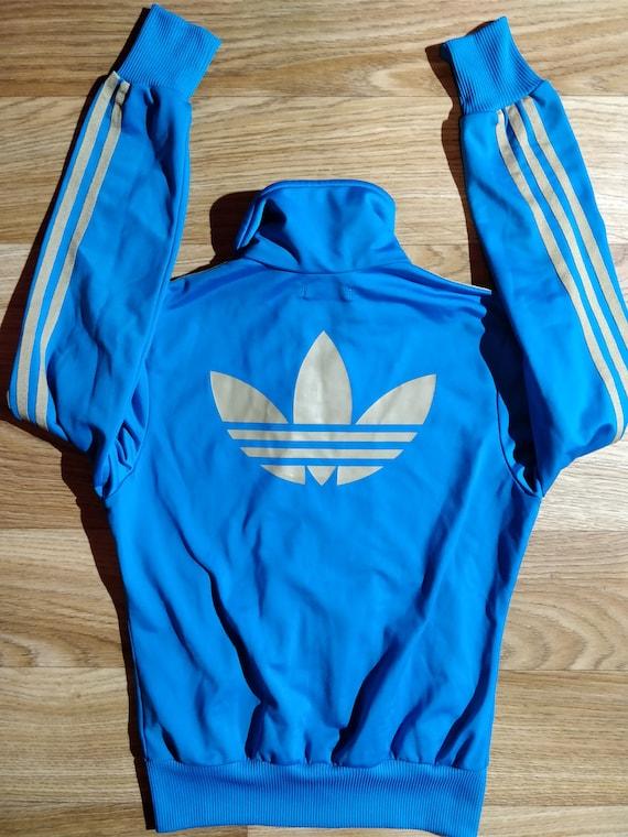 Adidas Originals 90er Jahrgang Frauen Trainingsanzug Jacke blau Beige