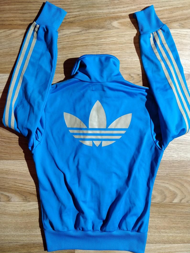 Adidas 90's Vintage Mens Tracksuit Top Jacket Sky Pale Blue