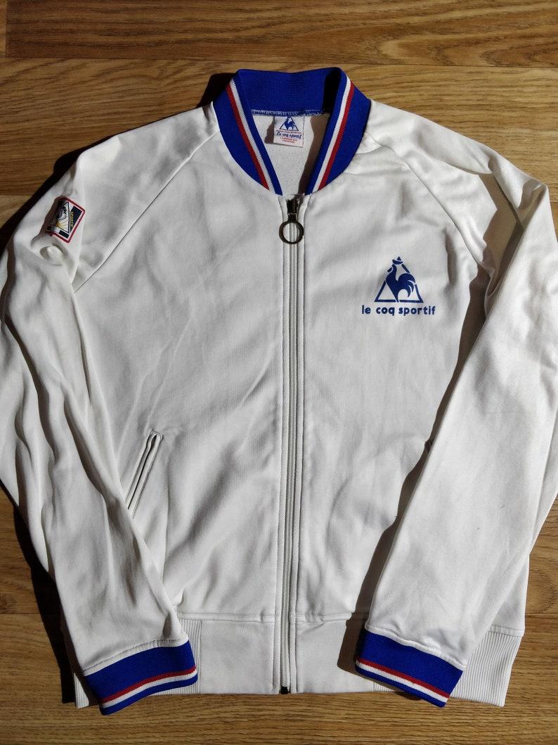 c3fb625d24 Le Coq Sportif Vintage Womens Tracksuit Top Jacket White | Etsy