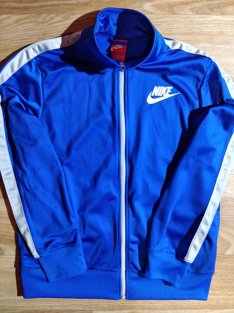 free shipping 3d452 7f214 Nike 90 s Vintage Womens Tracksuit Top Jacket Blue Gray   Etsy