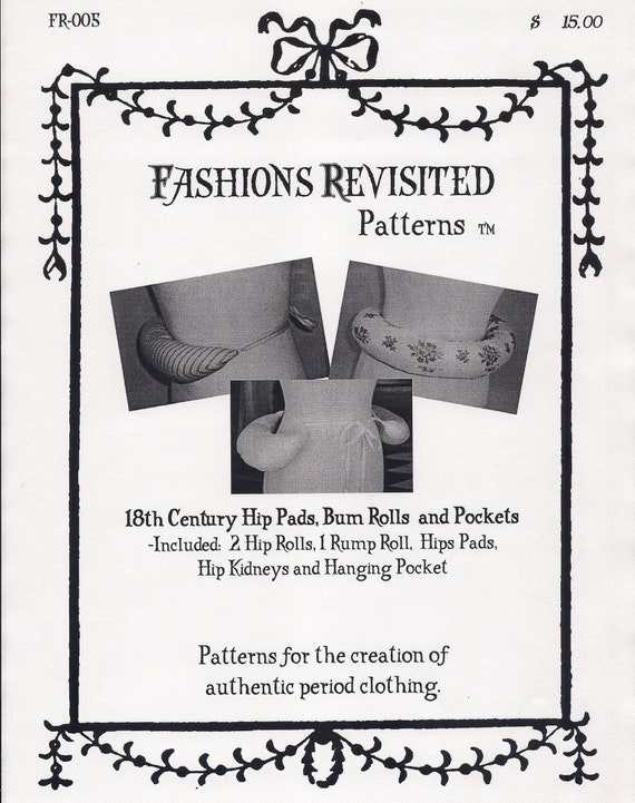 f2b39096a 18th Century Colonial Era sewing pattern for Hip pads Bum