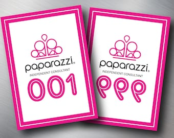 Paparazzi Facebook Normal & Reversed Live Sale Number Tag, Pink lines, Free Personalized, Paparazzi Consultant Facebook Live Sale Number