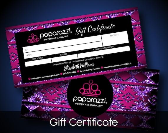 paparazzi gift certificate paparazzi gift cards paparazzi | etsy