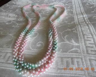 Vintage Handmade Crocheted Beaded Necklace