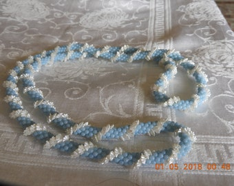 Vintage Crocheted Beaded Necklace