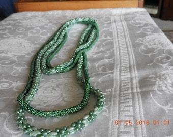 Handmade Crocheted Beaded Necklace