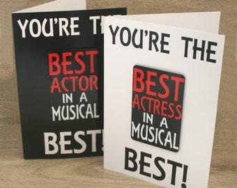 Best Musical Actor/Actress Card & Fridge Magnet