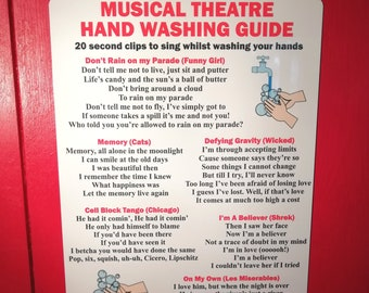 Musical Theatre Hand Washing Sign