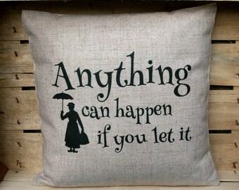 Mary Poppins Inspired Cushion