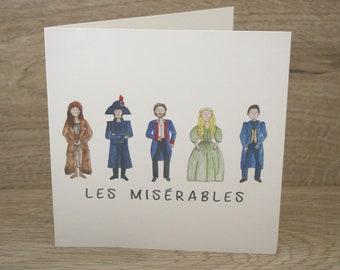 Les Miserables Greetings Card