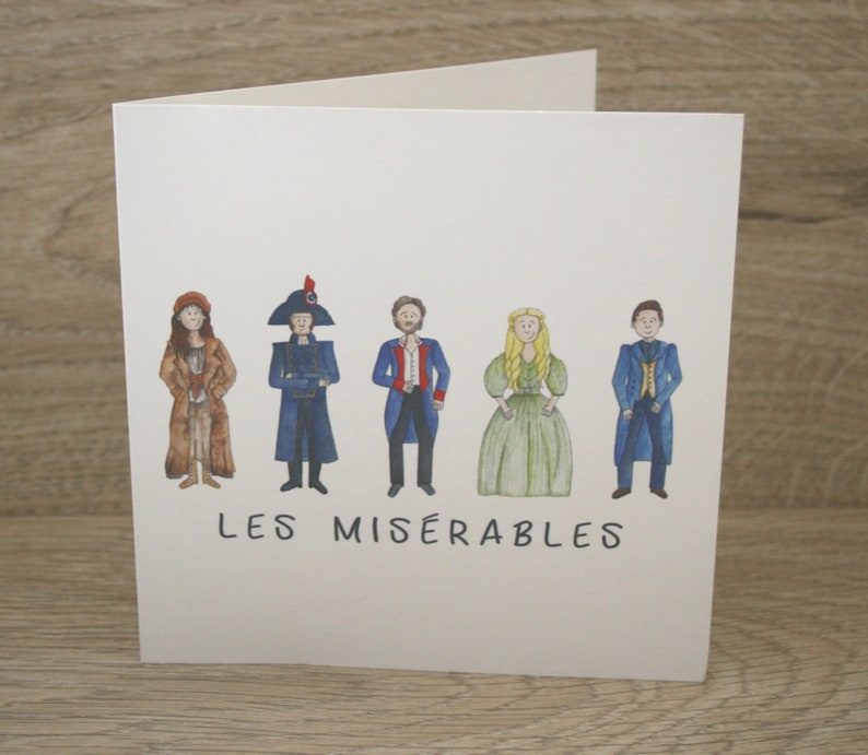 Les Miserables Greetings Card image 1