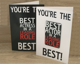 Best Actor/Actress Card & Fridge Magnet