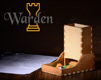 Hardwood Dice Tower and Dice Tray