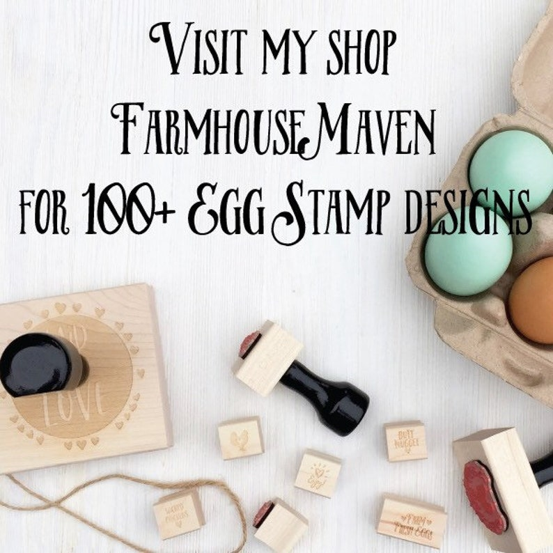 Egg Stamp Stamp for Egg Chickens Fresh Eggs Stamp Mini Egg Stamps Peep Fresh Eggs Chicken Coop Chicken Lover Gift Idea
