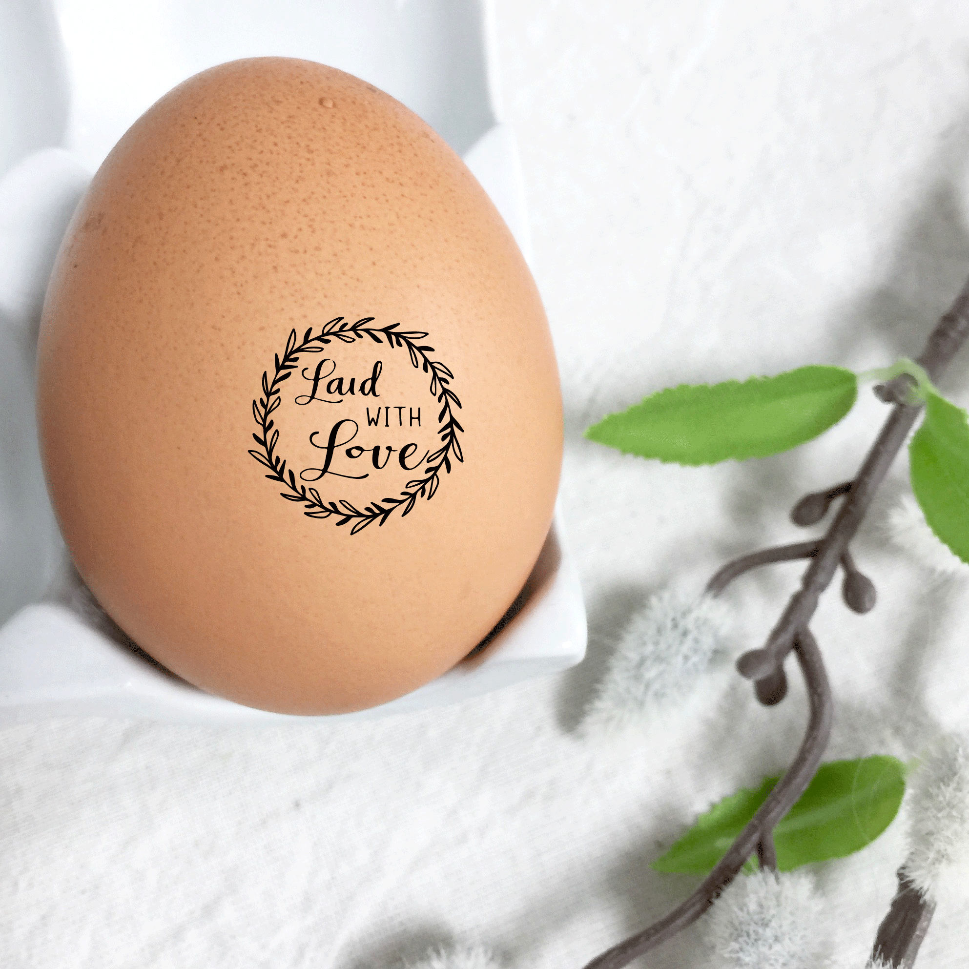 Egg Stamp Laid With Love