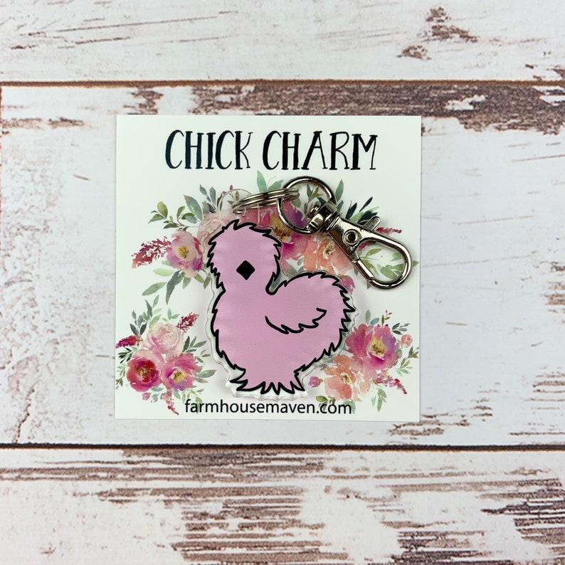 Cute Chicken Keychain  Chicken Accessories  Chicken Lover image 0