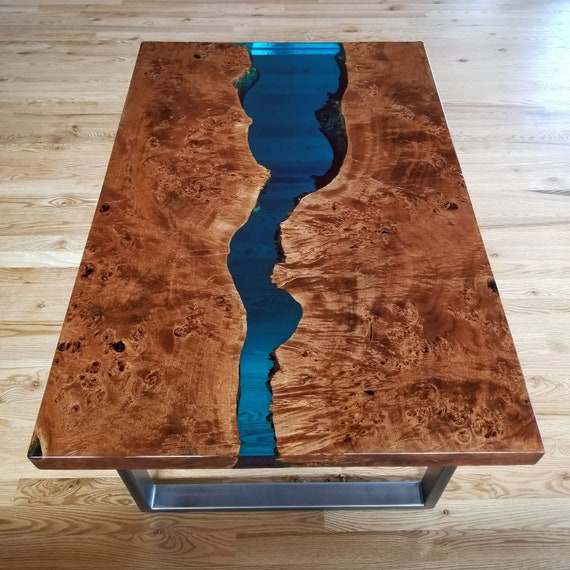 Pleasant Sold Epoxy Resin Coffee Table Live Edge Coffee Table Epoxy Table Resin Coffee Table Wood Table Blue Coffee Table Squirreltailoven Fun Painted Chair Ideas Images Squirreltailovenorg