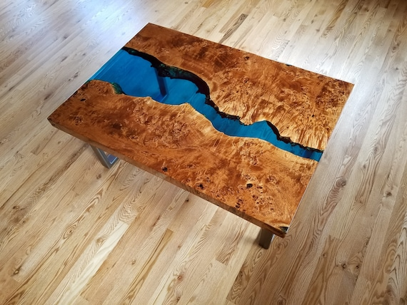 Surprising Sold Epoxy Resin Coffee Table Live Edge Coffee Table Epoxy Table Resin Coffee Table Wood Table Blue Coffee Table Squirreltailoven Fun Painted Chair Ideas Images Squirreltailovenorg
