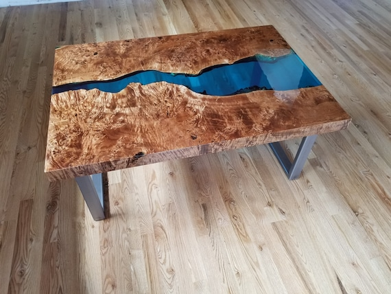 Admirable Sold Epoxy Resin Coffee Table Live Edge Coffee Table Epoxy Table Resin Coffee Table Wood Table Blue Coffee Table Squirreltailoven Fun Painted Chair Ideas Images Squirreltailovenorg