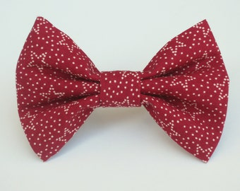 Stars on Brick Red Bow Tie