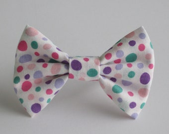 Pinks and Purples Polka Dots Bow Tie