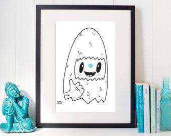 Yeti Print, Printable Art, Instant Download, Yeti Art, Printables, Wall Decor, Winter Decor, Winter Print