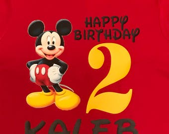 Mickey Mouse Inspired Childs Birthday Shirt #2