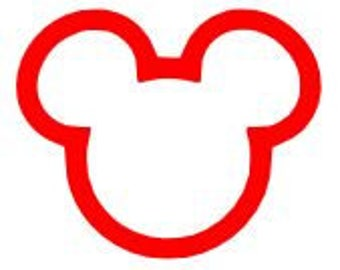MIckey Inspired Head Outline SVG