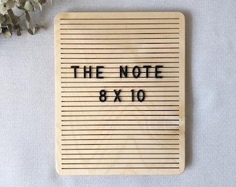 "The Note Birch - 8"" x 10"" - Wooden Letter Board - Message Board - Felt Board - Bohemian Decor - Modern Decor - Shop local - Shop small"