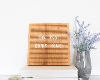"""The Post Oak - 10"""" x 10"""" - Wooden Letter Board - Message Board - Board - Bohemian Decor - Modern Decor - Natural - Shop local - Shop small"""