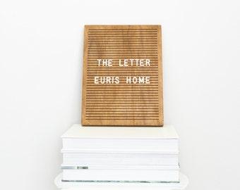 "The Letter Walnut 9"" x 12"" - Wooden Letter Board - Message Board - Felt Board - Bohemian Decor - Modern Decor - Shop local - Shop small"