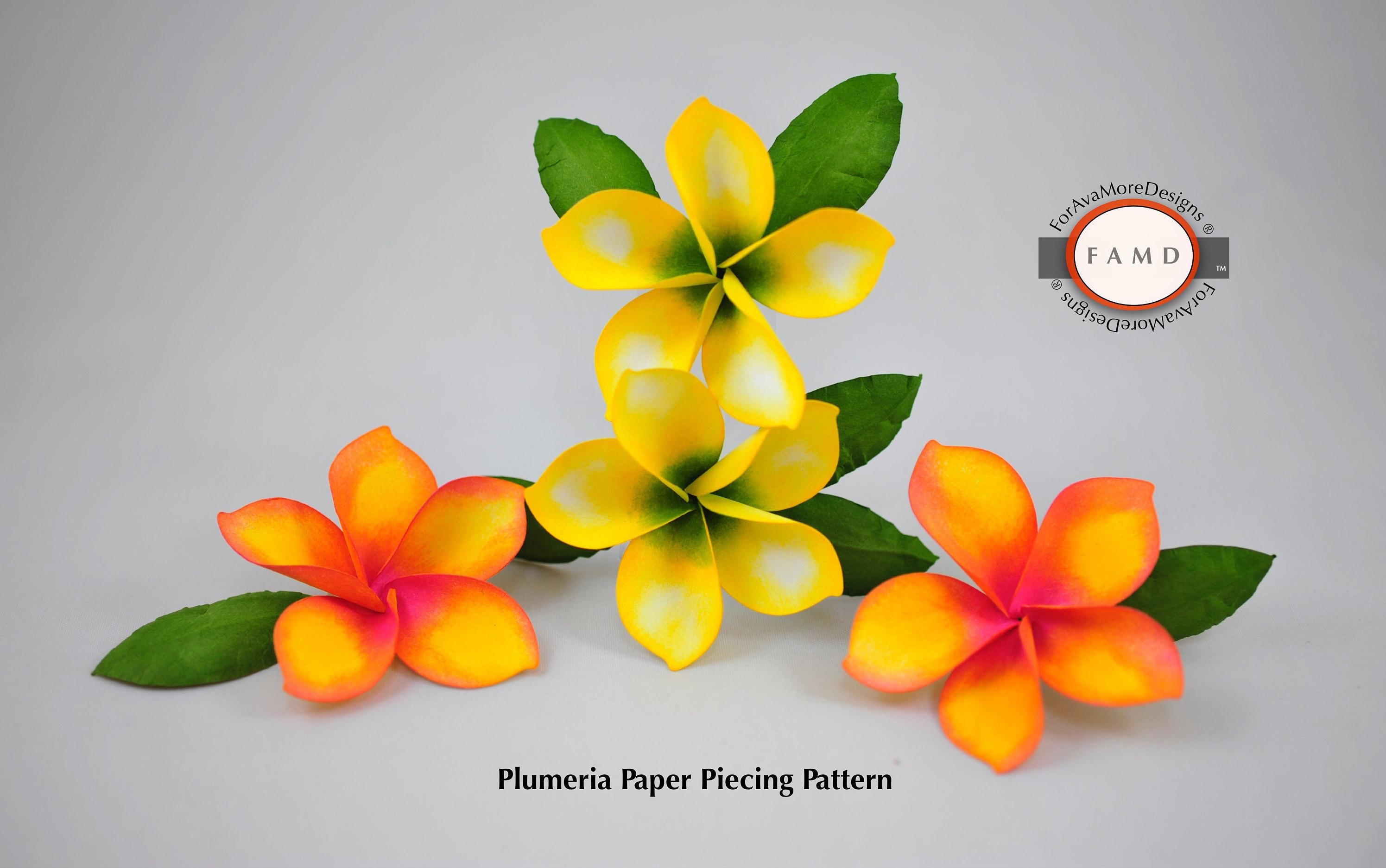 3d Plumeria Tropical Hawaiian Flower Svg Digital Die Cut Paper Etsy