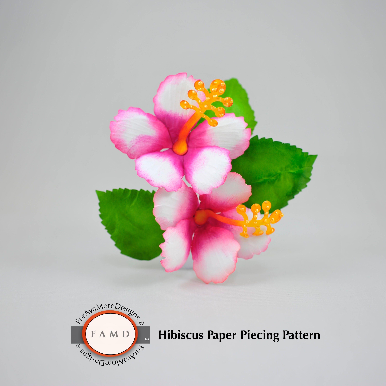 3d Hibiscus Tropical Hawaiian Flower Svg Digital Die Cut Paper Etsy