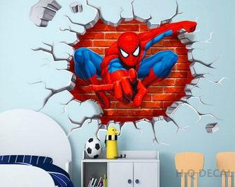 Spiderman 3D Wandtattoo Wandaufkleber abnehmbare | Etsy