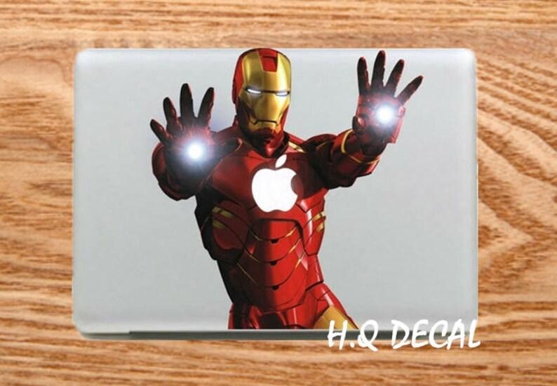 a2e234c75f17 Iron Man Macbook Decals Mac 12 Decal Stickers Macbook Skins Apple Declas  Mac Laptop Vinyl Decal Stickers Mac Cover Skins