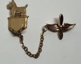 e4decf6fd03 US Army Air Corps Pin, Genuine Vintage WWII Sweetheart Pin US Army Air  Corps 1940's Patriotic Homefront Jewelry - Scottish Terrier Fala
