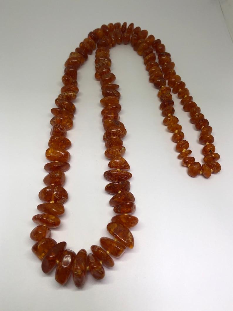 27 L, Vintage Amber Necklace