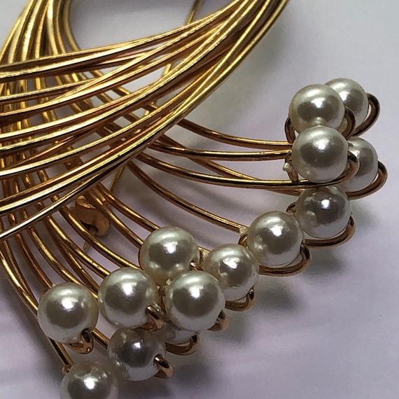 Vintage Faux Pearl Jewelry Suite, Faux Pearl Brac… - image 1