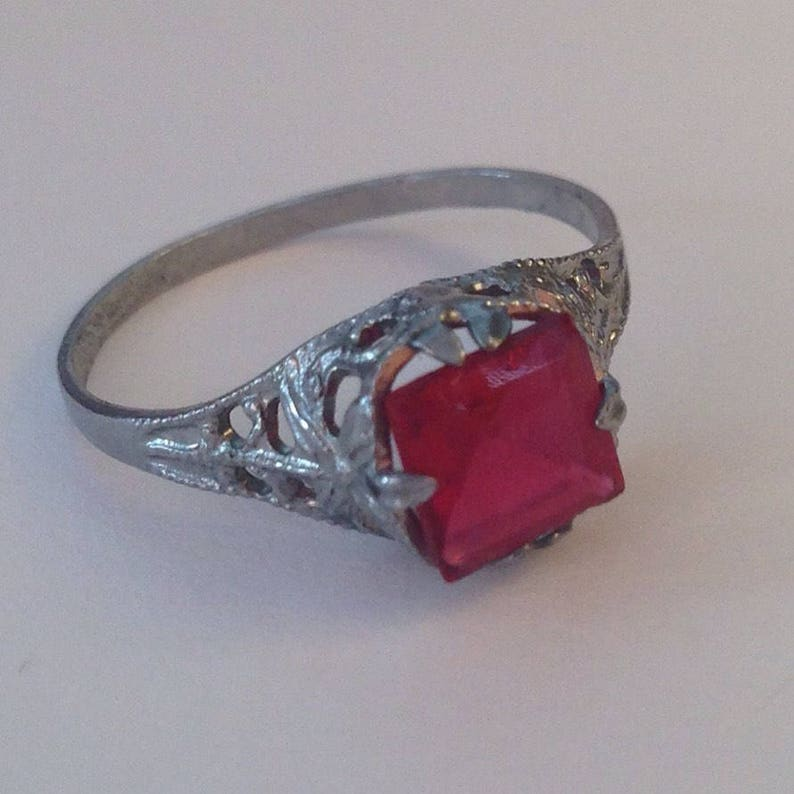 Never Worn Art Deco Ring Size 6 12 Lovely Genuine Antique Art Deco Filigree Costume Ring Circa 1930