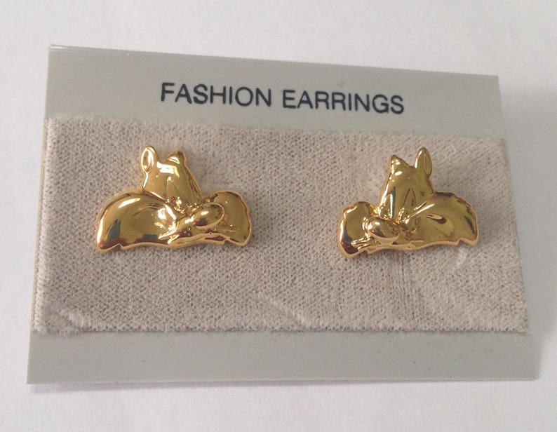 Cat Earrings Beautiful Vintage Sylvester the Cat Post Earrings Sylvester the Cat Jewelry Sylvester the Cat Costume Jewelry Stud Earrings