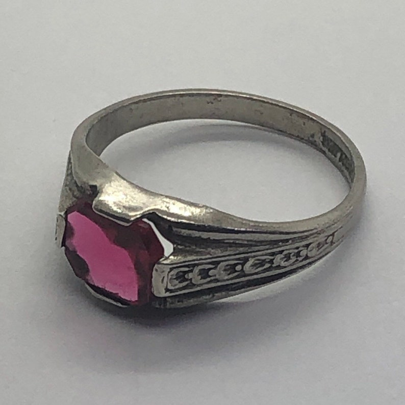 Art Deco Silver Ring Sterling Silver Ring Size 8 12
