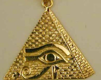 LA BLINGZ 14K White Gold Eye of Horus Good Luck Amulet Necklace