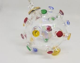 Corona-virus Egyptian Blown Glass Ornament