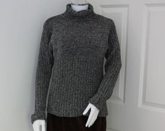 Vintage turtle neck sweater -  polo neck jumper -roll neck pullover - 80's clothes -  high neck - grunge - indie