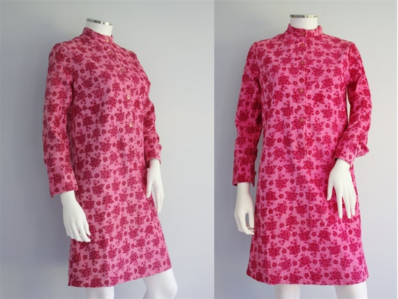 LAURA ASHLEY 60s RARE go go mini dress, mandarin c