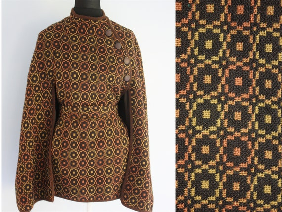 WELSH TAPESTRY cape brown with autumnal tones of y