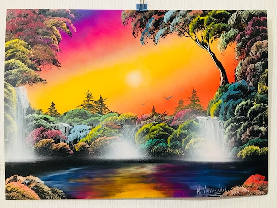 Art Landscape Homenko Colorful Paint Spray By Nature Painting nOwX80Pk